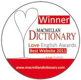 best website in Love English Awards by Macmillan Dictionary