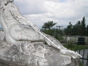 Achilles, a sculpture on the Greek island of Corfu