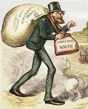 Carpetbagger cartoon by Thomas Nast