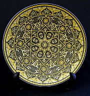 A damascene dish