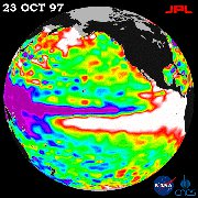 Satellite image of El Nino