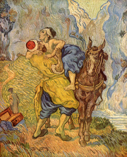 The parable of good Samaritan by Vincent van Gogh