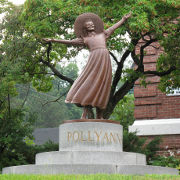 A sculpture of Pollyanna in Littleton, New Hampshire