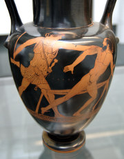 Theseus slaying Procrustes
