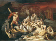 Charon carries souls across the river Styx