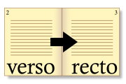 recto and verso