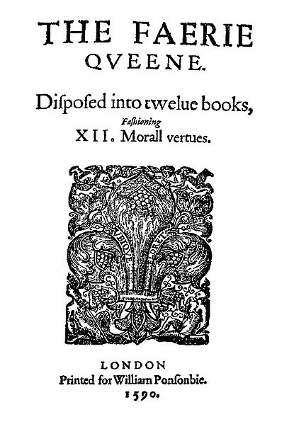 Title page of The Faerie Queene