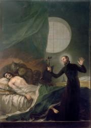 St. Francis Borgia exorcising