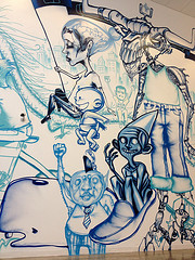 graffiti by David Choe at Facebook