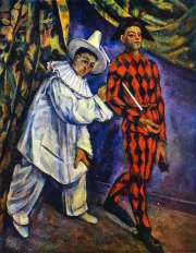 Pierrot and Harlequin by Paul Cézanne