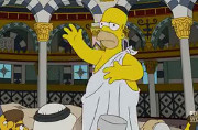 Homer Simpson struck with the syndrome during his visit to Jerusalem