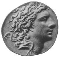 Mithridates VI on a coin