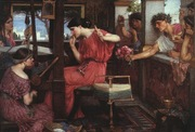 'Penelope and the Suitors' by John William Waterhouse