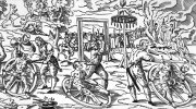 A woodcut illustrating an execution on a wheel, of Peter Stumpp