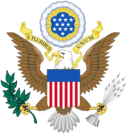 The coat of arms of the US