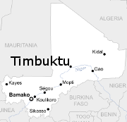 Map of Timbutu, Mali